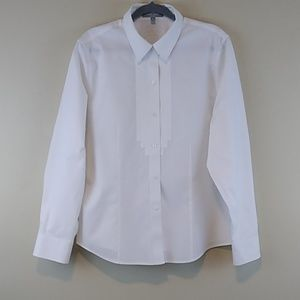 Foxcroft White Long Sleeve Shirt